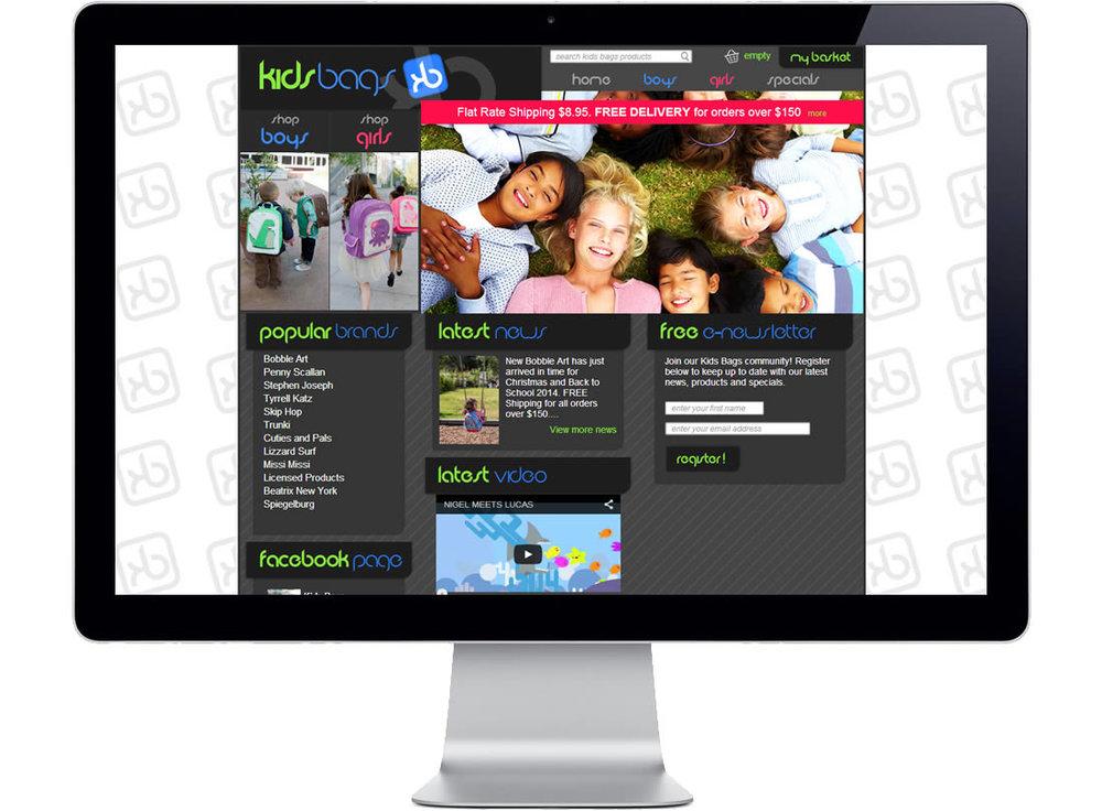 Kids Bags Website