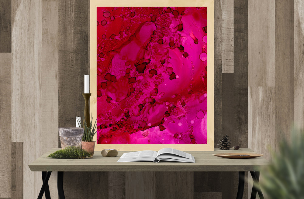abstract art - cranberry fusion
