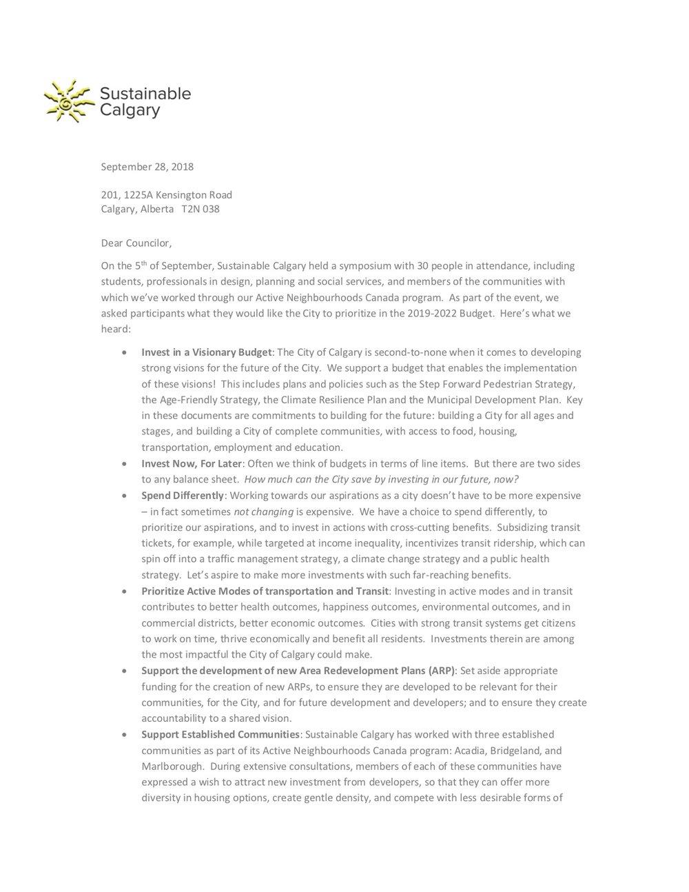 Sustainable Calgary - September 2018 Budget Consultation .jpg