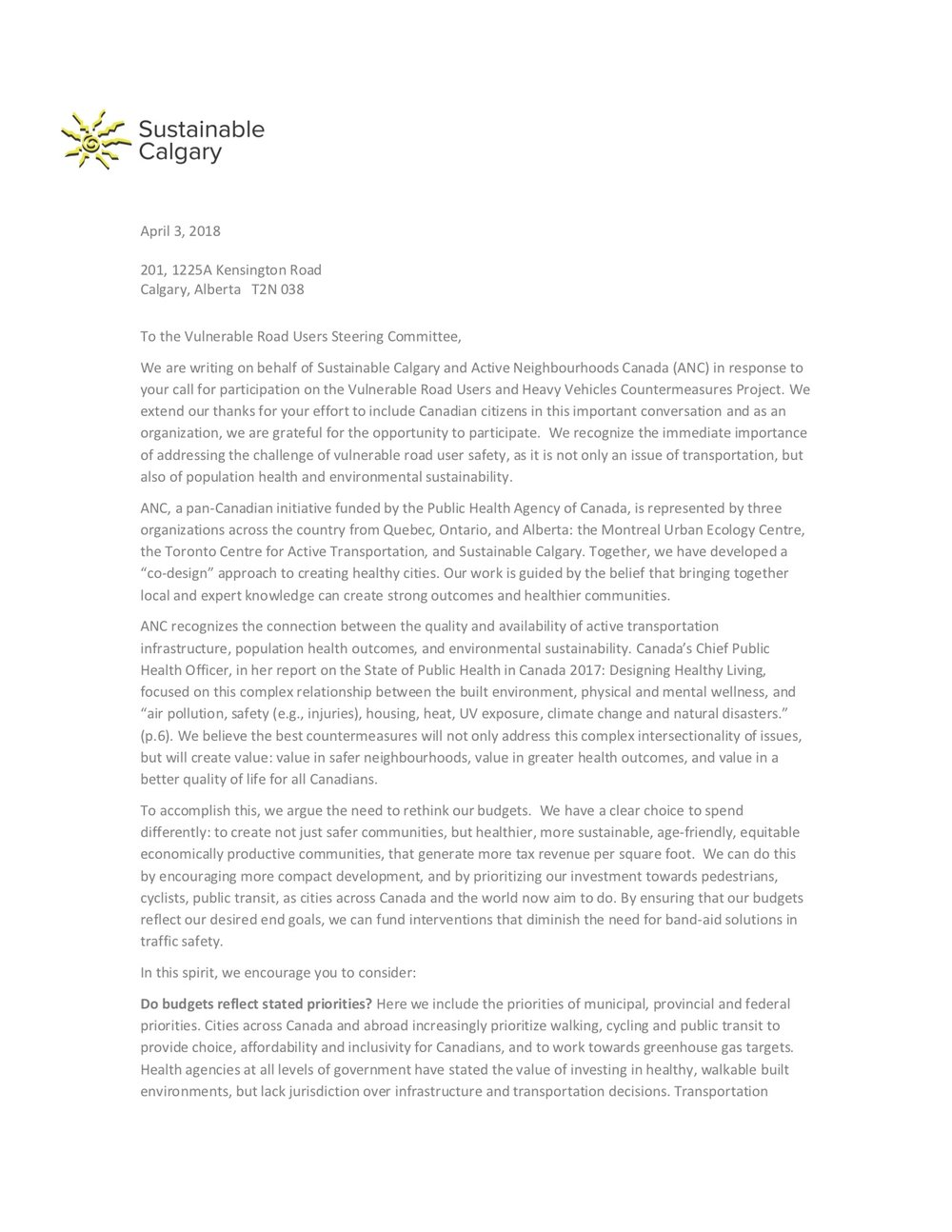 Sustainable Calgary - April 2018 Letter to VRU Steering Committee.jpg