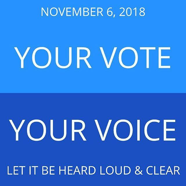 Let's do this! . . . . . #vote  #lgbtq🌈  #fightforwhatyoubelievein  #fightforyourrights  #womenempowerment  #ibelieveher  #believewomen  #cheatdaypodcast #loveyourshow  #voteblue  #voteblue2018