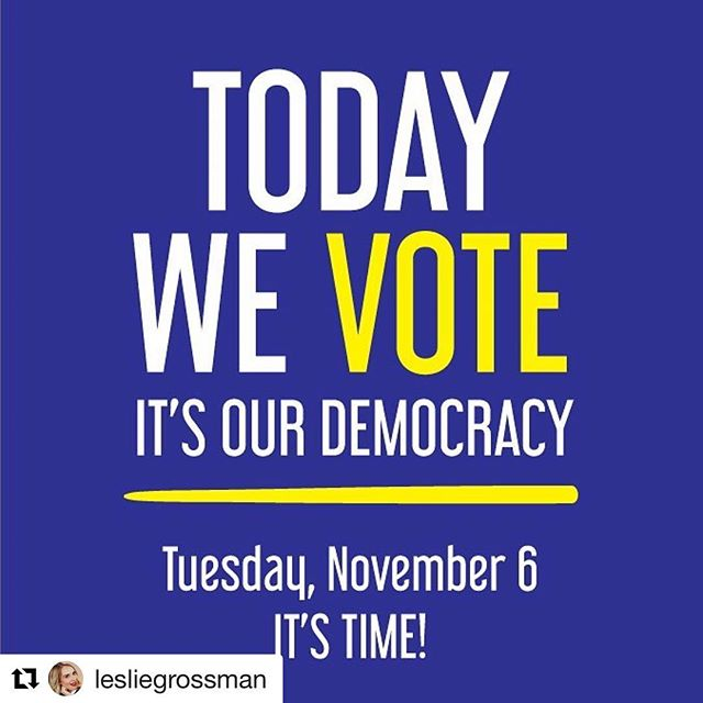 #Repost @lesliegrossman with @get_repost ・・・ Remember how we talked about you voting? Don't disappoint me ya cuties! Vote.org 🗳👍🏼