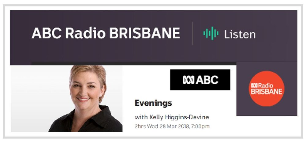 Interview on Evenings with Kelly Higgins-Devine.  ABC Radio Brisbane.  (Queensland, Australia). January 23, 2018.  Topic:  How does direct-to-consumer DNA testing work and what are the risks?