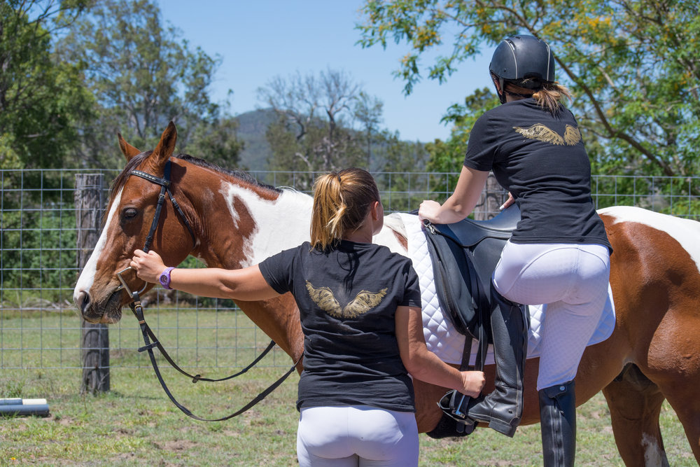 Safety is paramount when mounting your horse