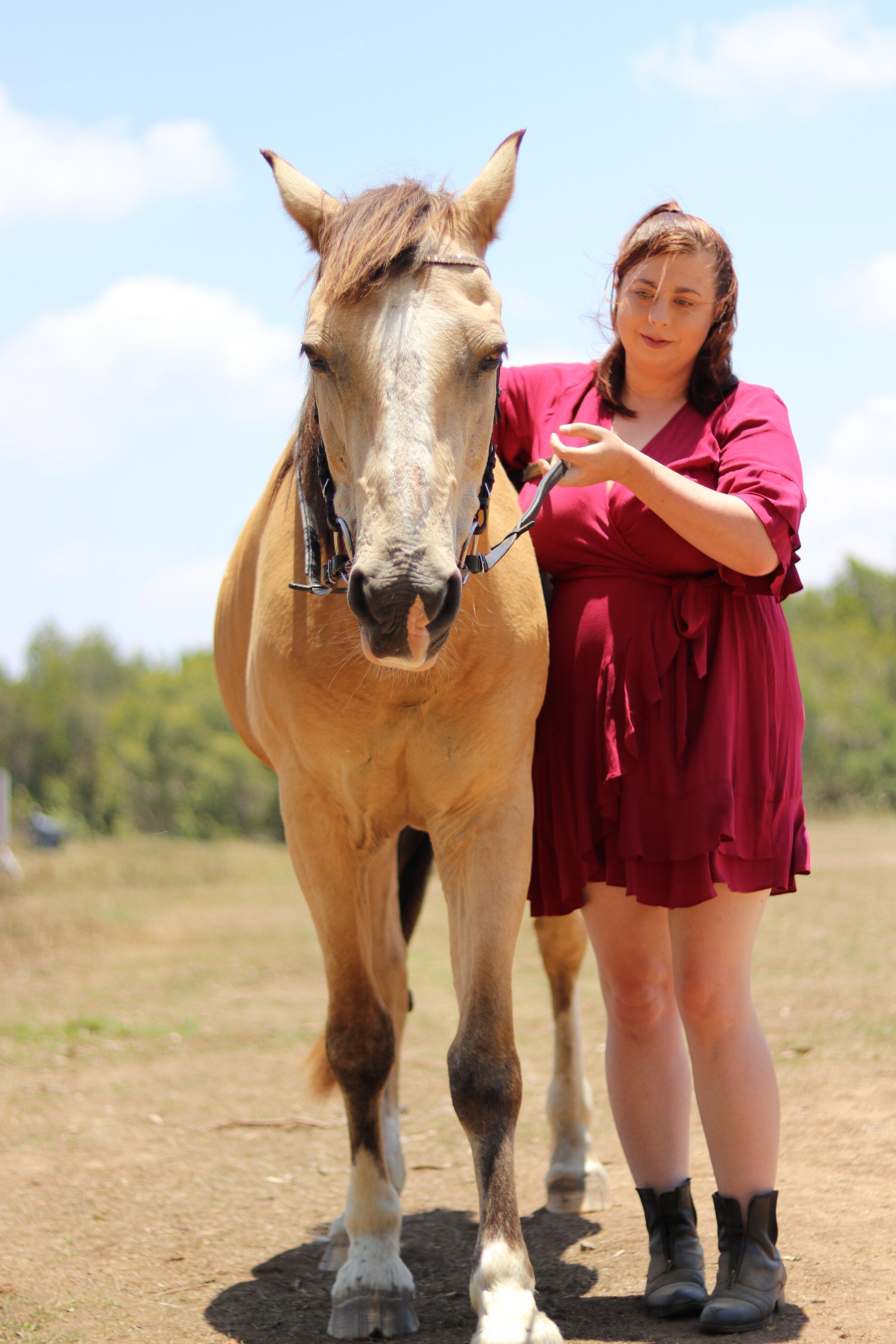 Equestrian Movement Bringing A Senior Horse Back Into Work