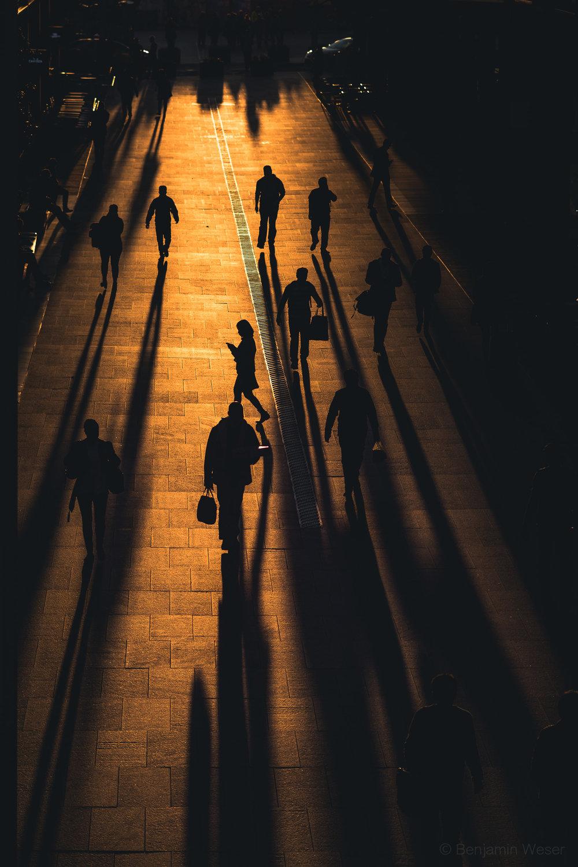 People Shadow Sunset Sydney