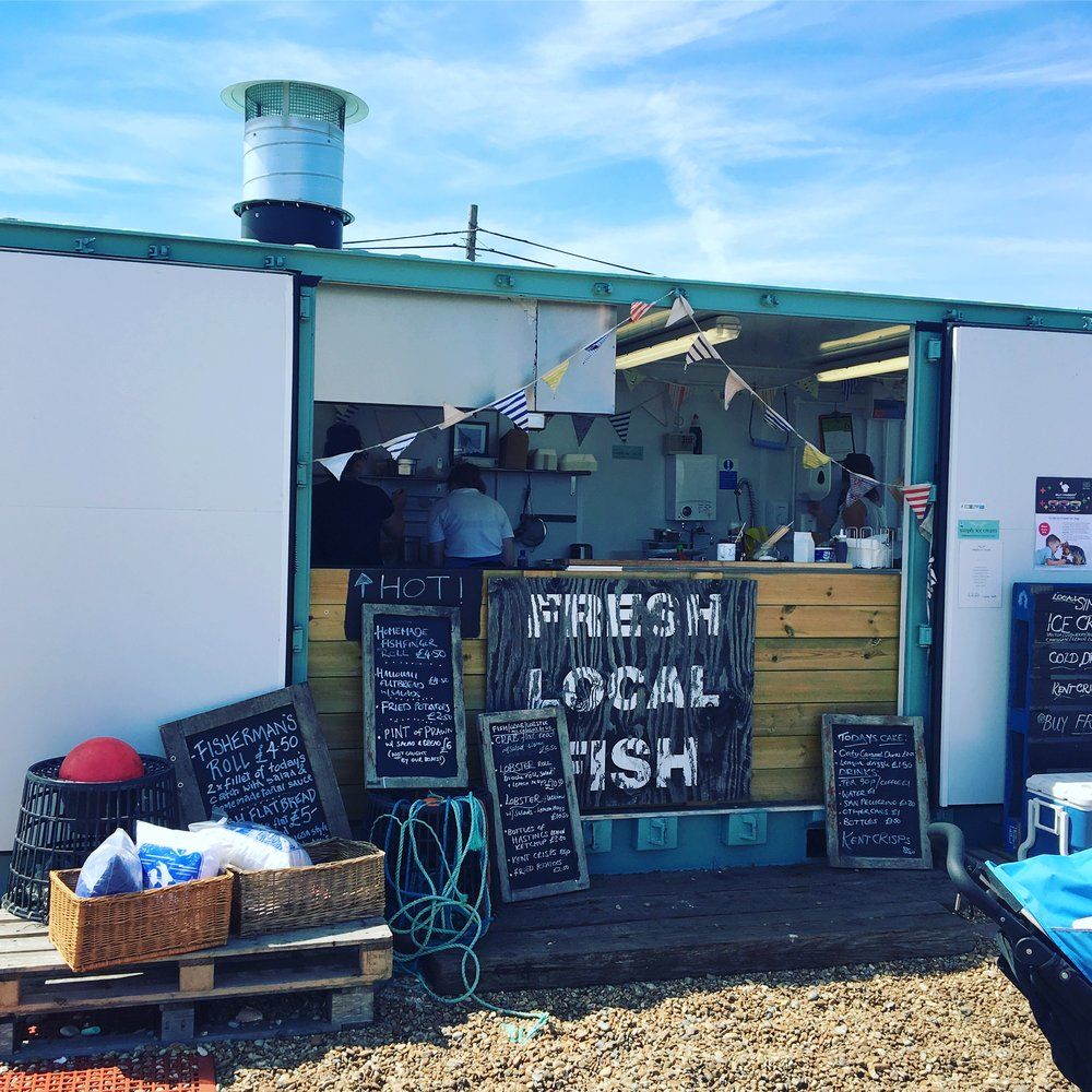 Dungeness Fish Shack in the summer