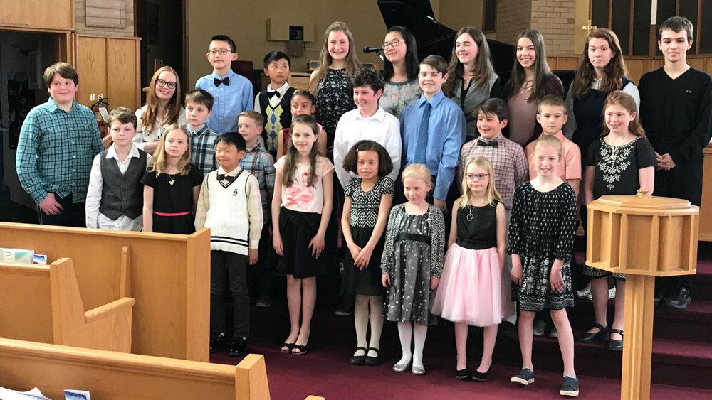 We had a beautiful recital on Sunday, April 29, 2018. Congratulations everyone!