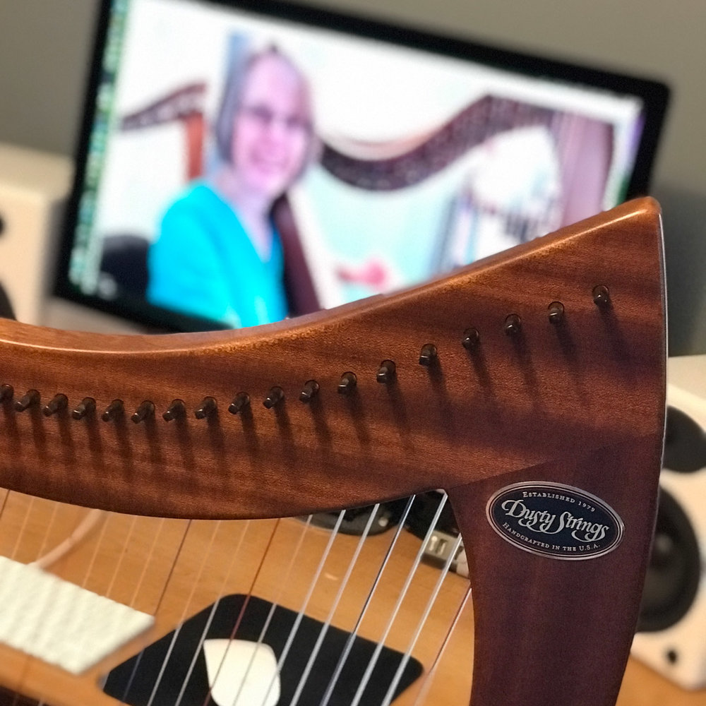 OnLine Harp Lessons - My studio is well-equipped for online harp lessons using Zoom. This is a great solution for students who are unable to travel to my studio. Regular weekly lessons or occasional coaching sessions are now available.