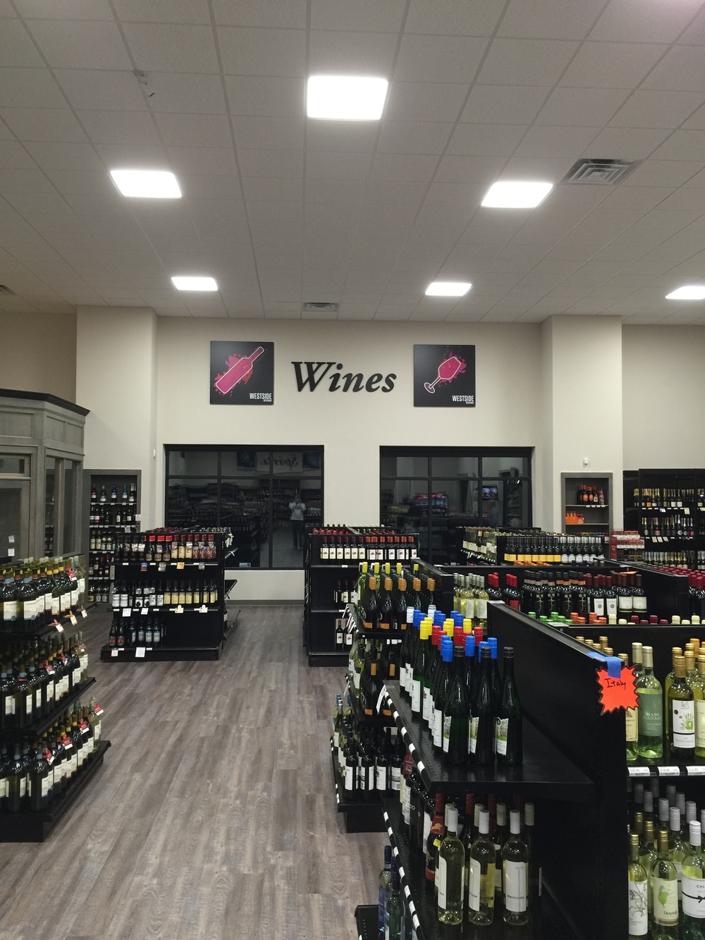 westside beverage wine section in cumming georgia