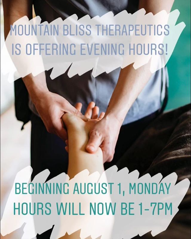 Many of you have asked, and I have listened! ☺️ I am pleased to be offering some evening hours each week, hopefully allowing time for those who work the regular 9-5 the opportunity to access treatment!💆🏼‍♂️💆🏼‍♀️ Also... who wants to work early on Monday mornings anyway?! 😜  #registeredmassagetherapist #registeredmassagetherapy #rmt #trailbc#rosslandbc #rosslander #massagetherapy #ilovemassage #mountainliving #kootneayhealthylifestyle #kootenayliving #wellness #health #relax #kootenaylife #supportlocal #massagetherapist #castlegarbc #castlegarwellness