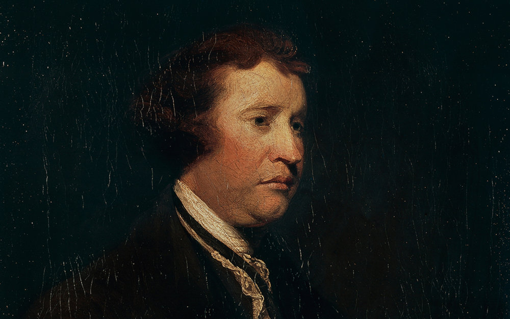Edmund Burke retratado por Joshua Reynolds