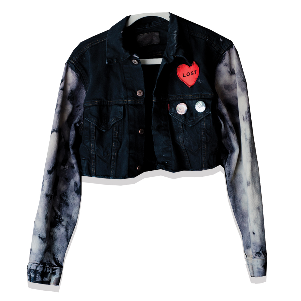 LOST ANGELES - This one here is a cropped denim jacket with bleached sleeves which I designed for Lost Heart's women's collection: Lost Angeles. Following is the branding and marketing that rolled out with the Lost Angeles Collection.