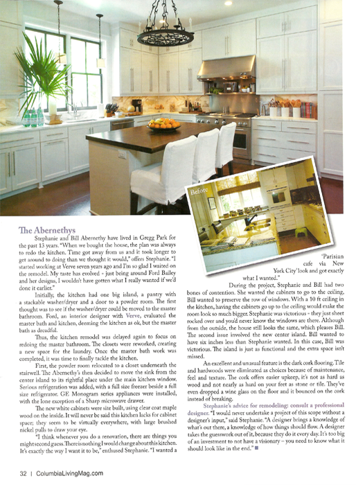 Kitchen & Bath Remix Columbia Living 2011
