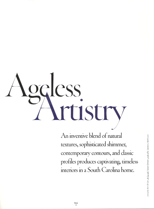 Ageless Artistry Decor Magazine 2009