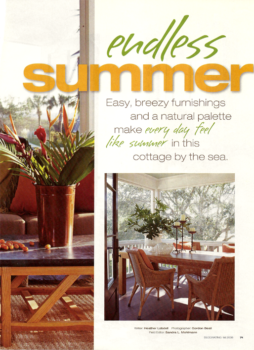 Endless Summer Better Homes & Gardens Magazine 2008