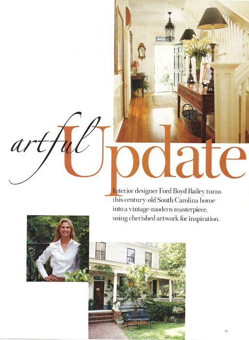 Artful Update Southern Homes 2006