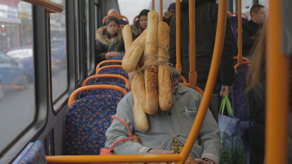 Tatsumi Orimoto performing Breadman on the Bus