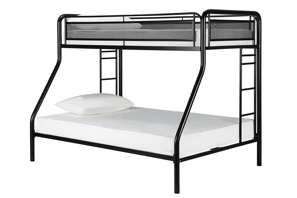 Bunk Bed - 1 bunk bed for 11 y.o. & 7 y.o.Approximate cost break-down:*$192 for 1 sturdy bunk bed frame*$167 for 2 mattressesTotal cost: ~$359