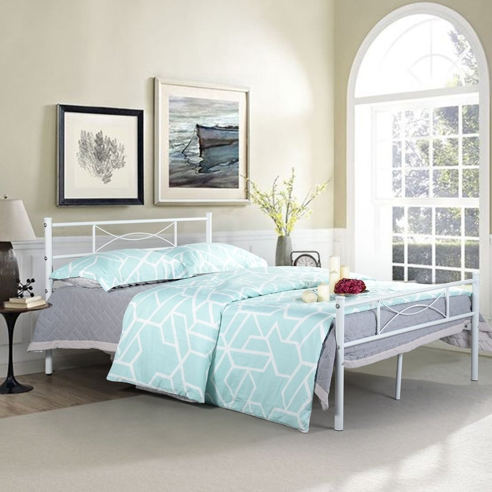 Full-sized Bed - Bed for momApproximate cost break-down:*$90 for bed frame*$219 for mattressTotal cost: ~$309