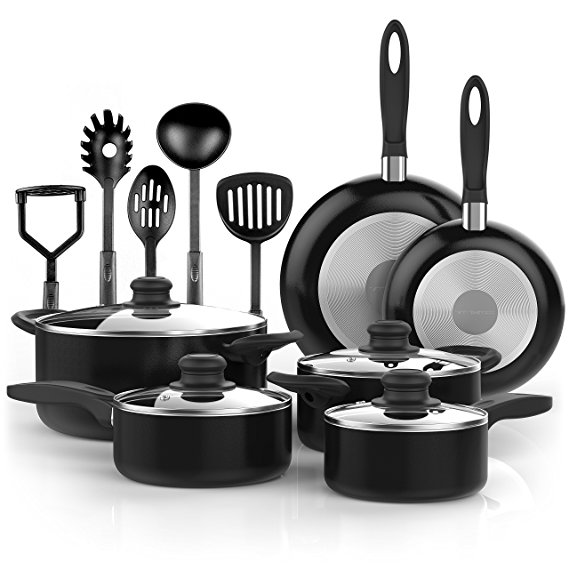 Pots & Pans - Pots and pans set with included cooking utensilsApproximate cost break-down:*$50 for 1 setTotal cost: ~$50