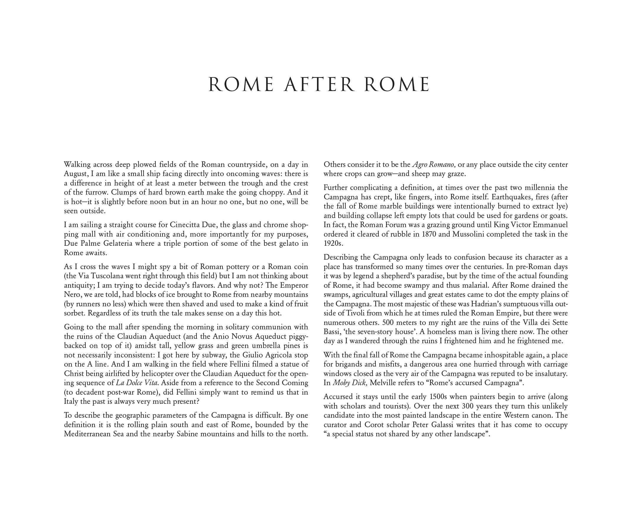 History Of English Essay Romeafterromeessayjpg Personal Essay Examples High School also Essays And Term Papers Rome After Rome  Joel Sternfeld Essay Tips For High School