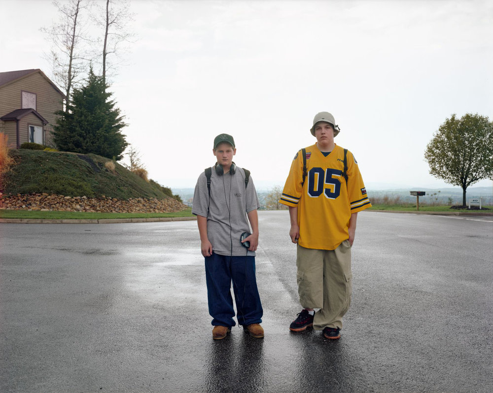 Boys Walking Home After School, Harrisonburg, Virginia, May 1998
