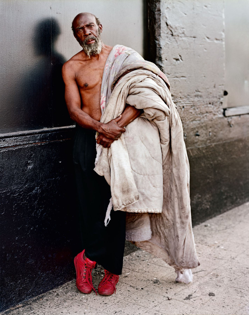 A Homeless Man With His Bedding, New York, New York, July 1993