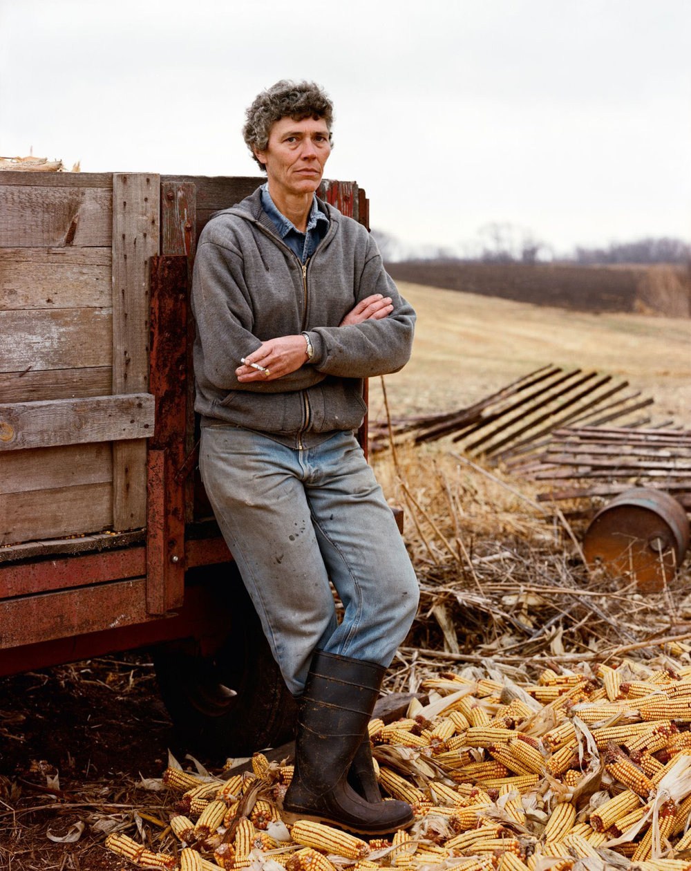 A Farmer Taking a Break, Iowa, She has Cancer of the Thyroid, November 1986