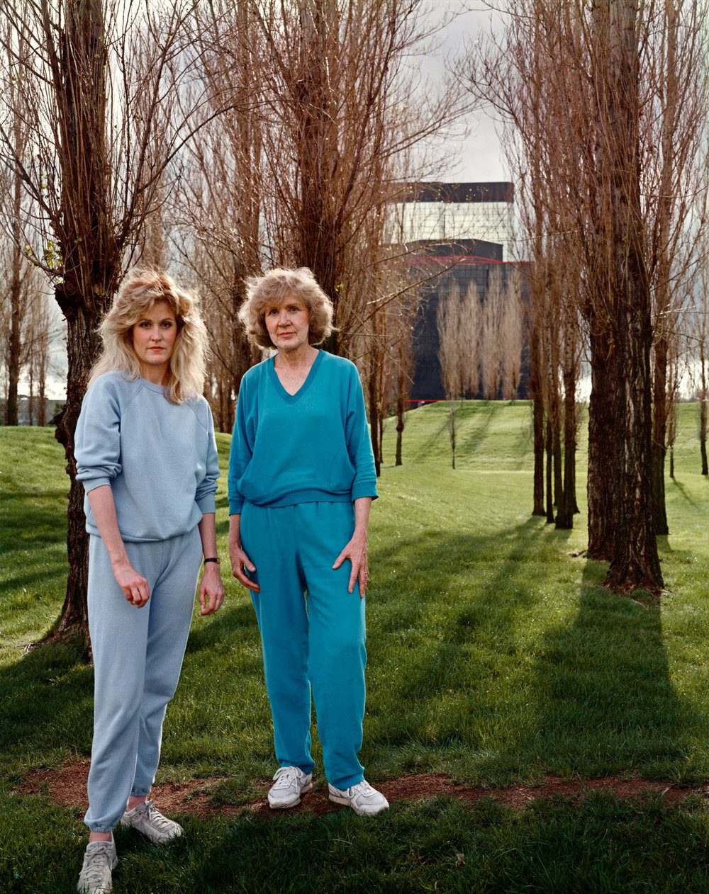 A Mother And Daughter On Their Daily Walk Near The Warner Center In The San Fernando Valley, California, March 1988