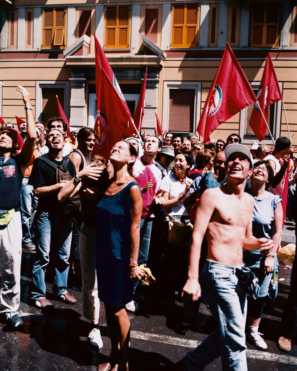 Water Thrown on Protestors, Genoa, 20 July 2001