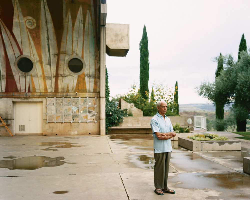 Paolo Soleri at Arcosanti, Cordes Junction, Arizona, August 2000