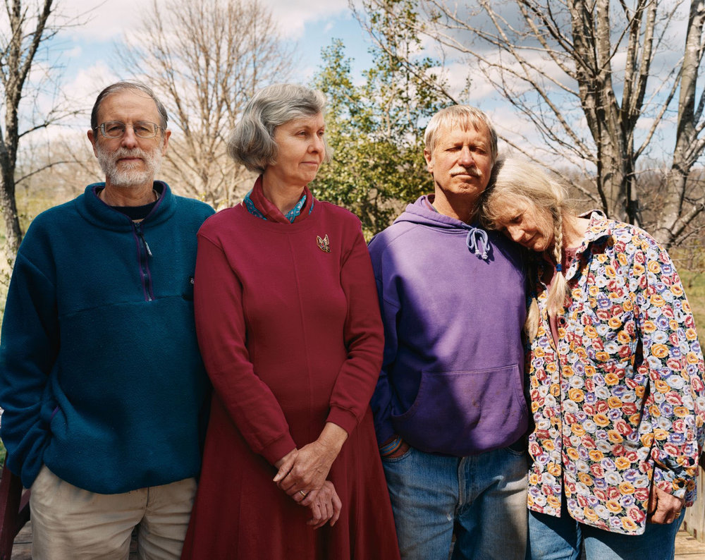Andy Wilson, Evelyn Edson, Tom and Ruth Klippstein at Springtree
