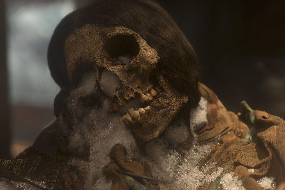 """Mummy """"Sarita"""", Museo Santuarios Andinos, Arequipa, Perú"""