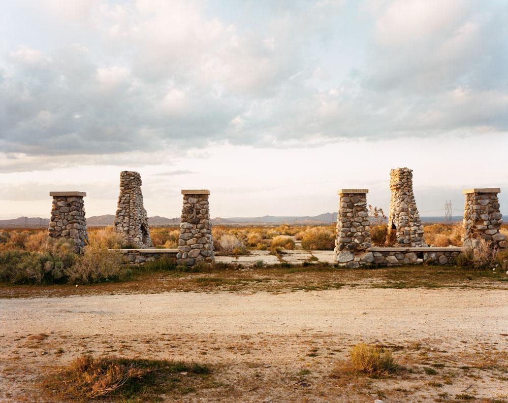 Ruins of the General Assembly Hall and Hotel, Llano del Rio, Antelope Valley, California, November 1993.