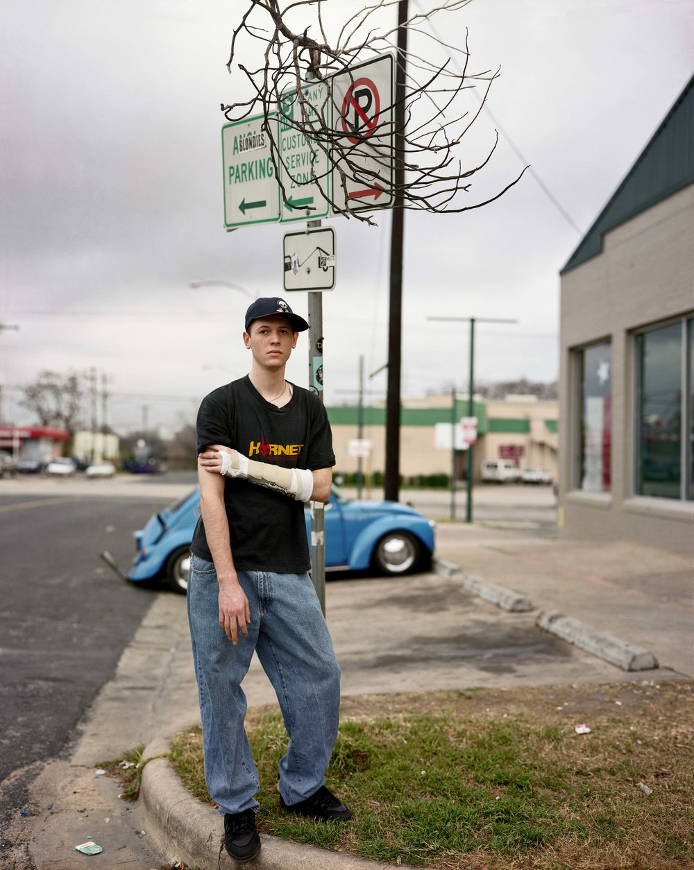A Man Outside Blondie's Skate Shop, Austin, Texas, February 1999