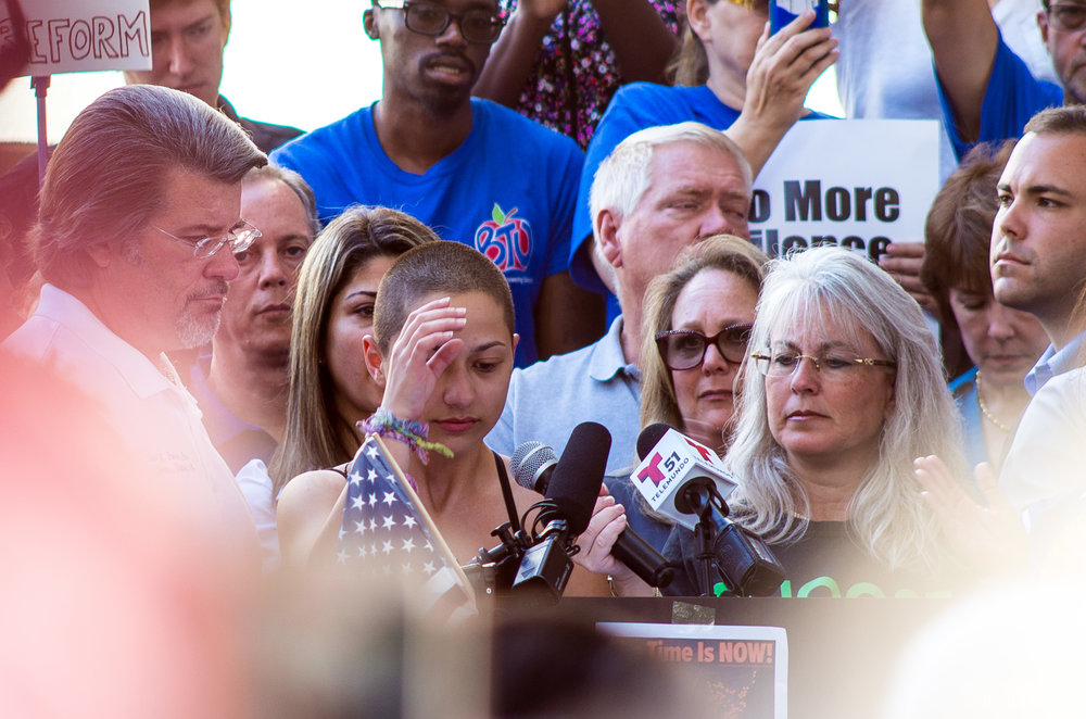 Emma Gonzalez delivered a speech at a gun safety rally in Fort Lauderdale, Florida on Feb. 17. | Credit: Wikimedia Commons