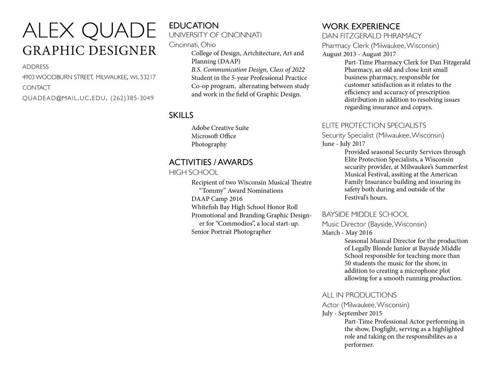 Resume Alex Quade