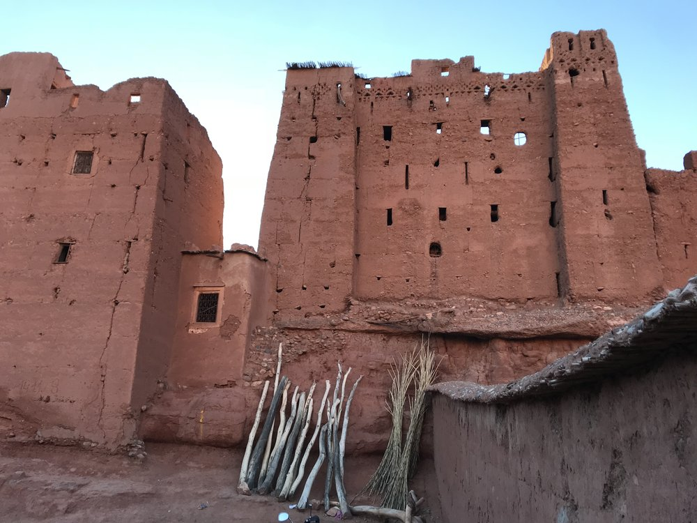 The old kasbah (in this case: castle although kasbah also refers to houses) of Boutaghrar