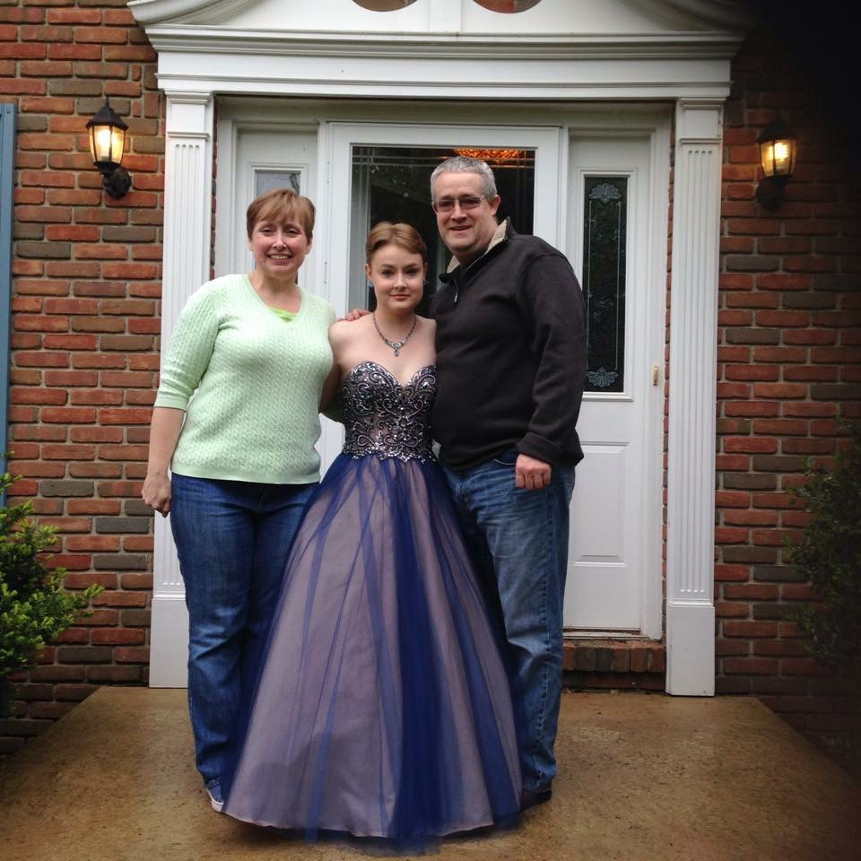 Here's me at Senior prom. Moonface. Moonface, everywhere.