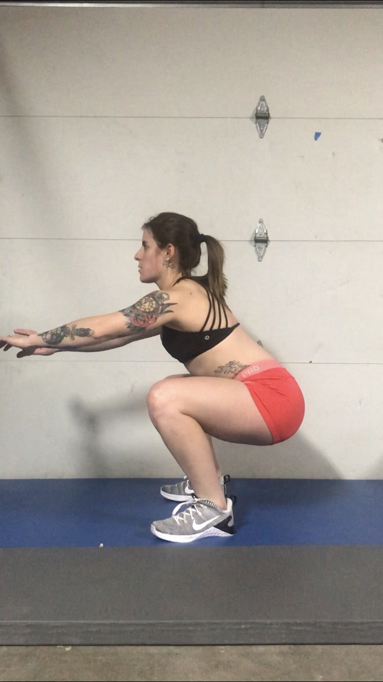 Traditional Squat Step #2