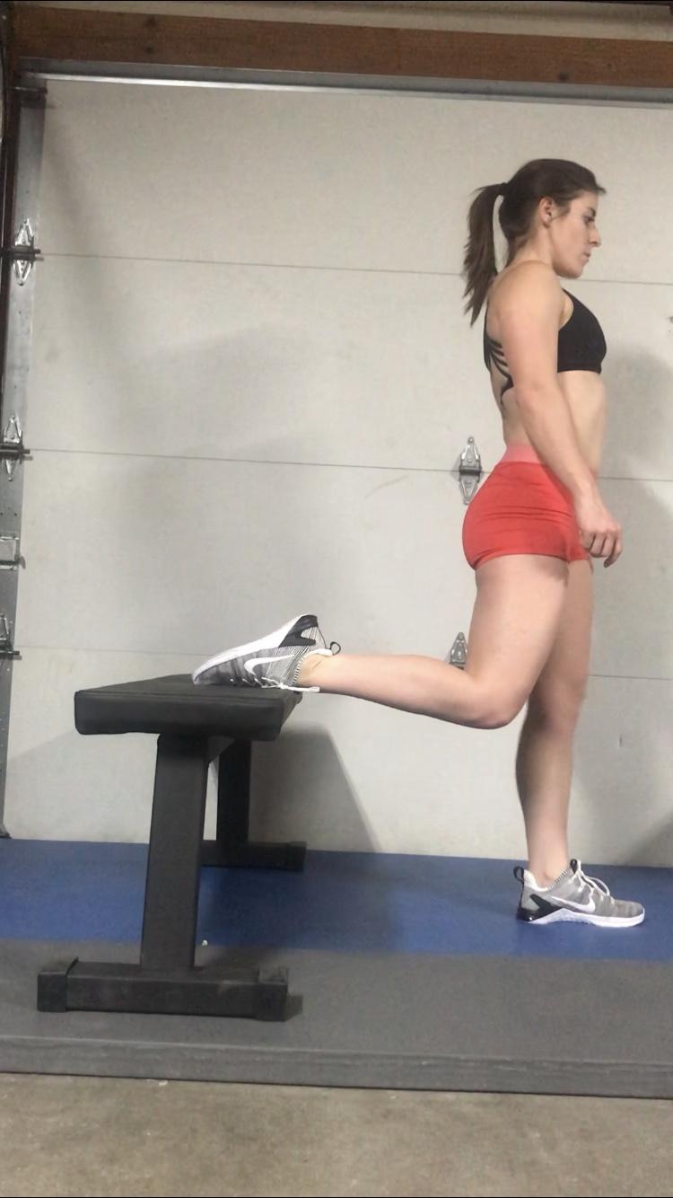 Bulgarian Split Squat Step #1
