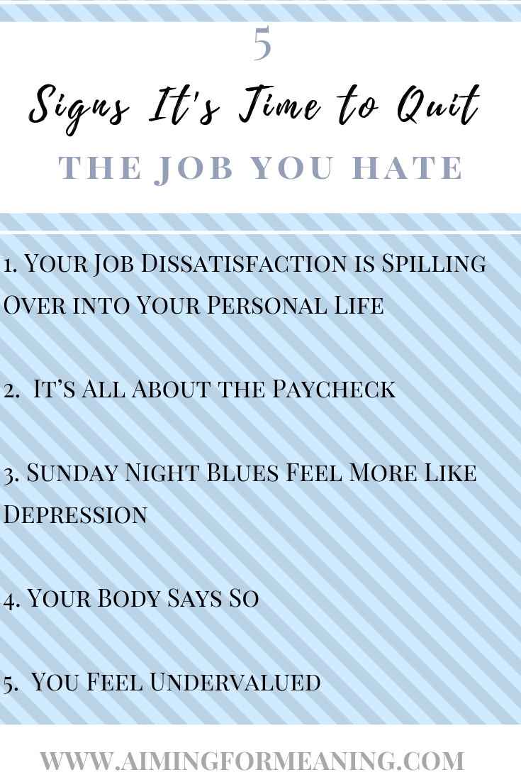 5 Signs It's Time to Quit the Job You Hate