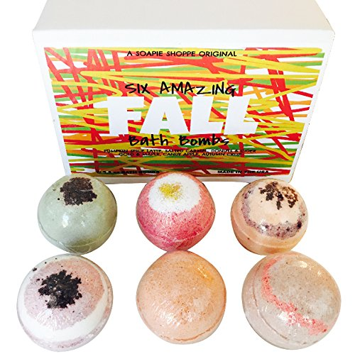 Fall Scented Bath Bombs (Pumpkin Spice Latte, Salted Caramel, Donuts and Cider, Autumn Crisp, Candy Apple, Gold and Maple.
