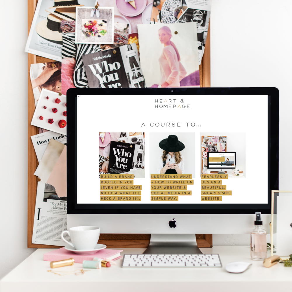 fearlessly design a beautiful, squarespace website. -