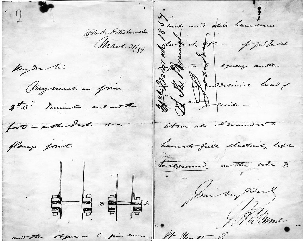 Letter from Isambard Kingdom Brunel to Stephen Moulton, 1859