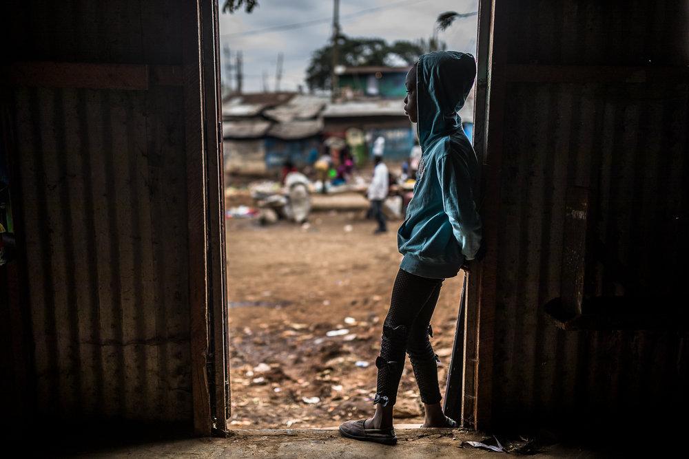 Kibera slum in Nairobi, where the Uweza Art Gallery is situated © Brian Ochieng