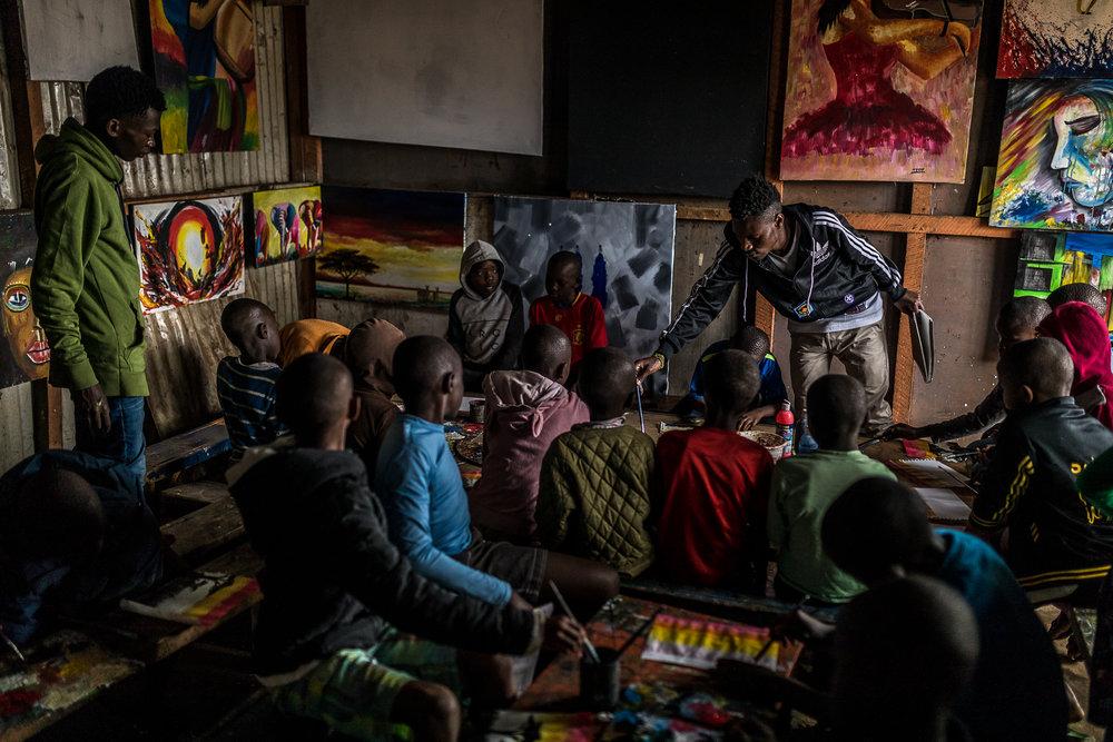 Inside the Uweza Art Gallery (© Brian Ochieng)