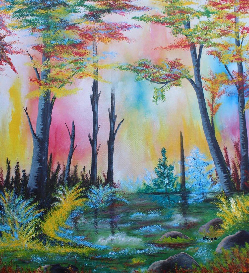 """""""Mythical Landscape"""" by Frank Okoth"""