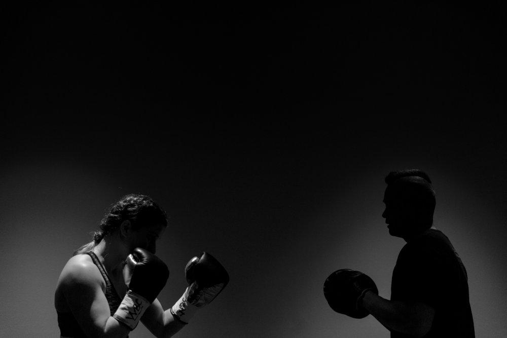 Boxing: Dressing room, Valgerdur Gudstensdottir (Thanderz vs Gudstensdottir)